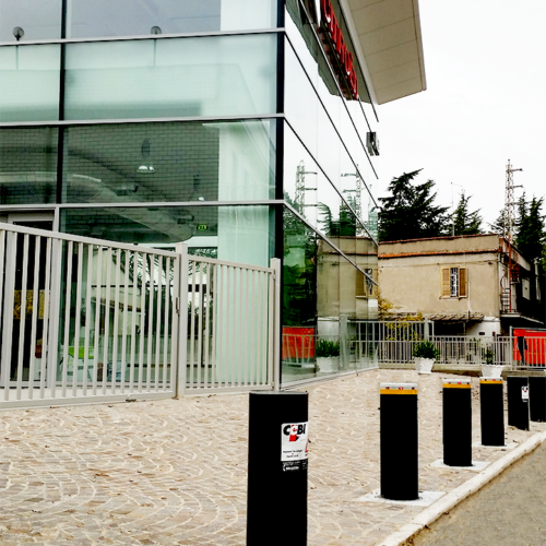 Installazione Dissuasori presso concessionaria auto Citroen, Roma - CEBI