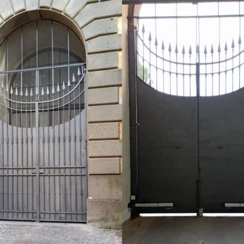 Automazione, restauro conservativo e adeguamento fabbrile del cancello della Villa Pontificia Villa Cybo - Castel Gandolfo (RM) - CEBI