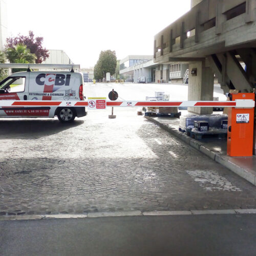 Barriera automatica ad uso intensivo Faac presso Birra Peroni Srl - Fornitura e Installazione - Roma - CEBI