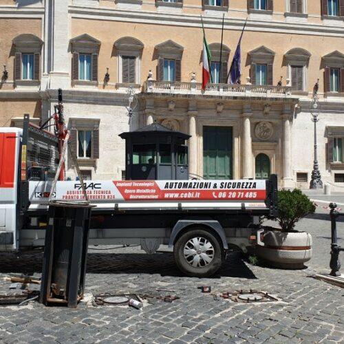 Manutenzione Dissuasori Automatici presso Camera dei Deputati, Roma - Cebi Srl