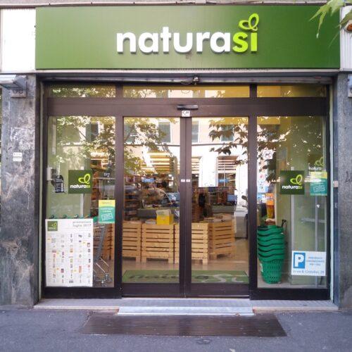 Porta automatica scorrevole FAAC Cebi, negozio Naturasì, Roma