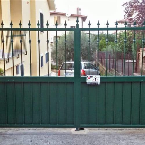 Cancello Automatico ad ante battenti verde, Roma   CEBI
