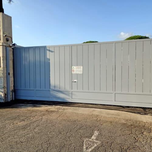 Realizzazione e Installazione di Cancello Automatico Scorrevole presso POLMANTEO - Roma   CEBI Srl