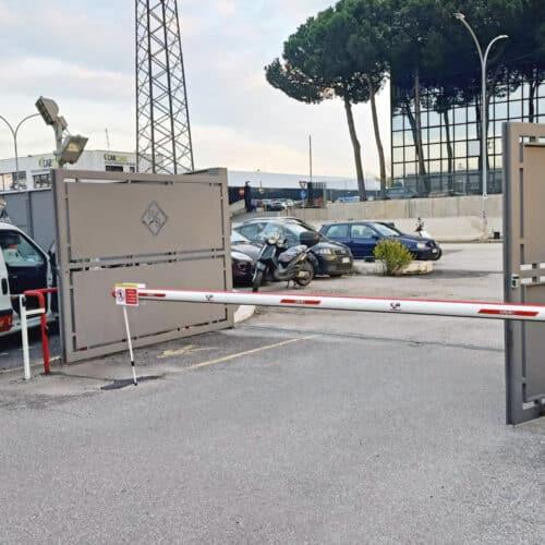 Barriera automatica presso Rohde e Schwarz Roma - Installazione chiavi in mano - CEBI Srl