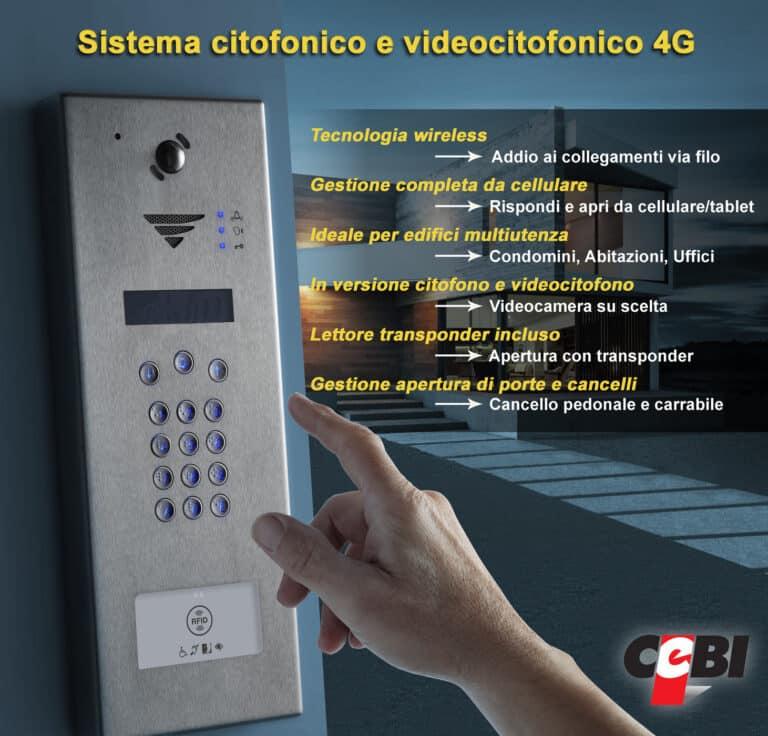 Videocitofono 4G wireless risposta da smartphone - Installazione a Roma - CEBI S.r.l.