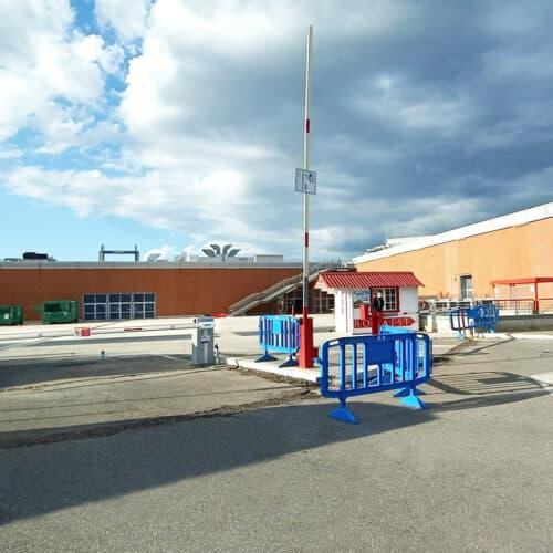 Barriera automatica Faac presso Centro Commerciale RomaEst - Fornitura e Installazione CEBI Srl