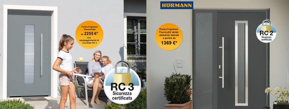 Promozione Hormann 2021 Porte di ingresso Roma Thermosafe e Thermo65 - CEBI Srl
