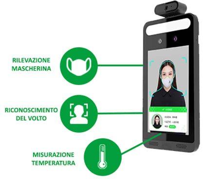 Termoscanner 3in1 rilevazione mascherina, temperatura e volto | Installazione a Roma e Provincia | CEBI Srl